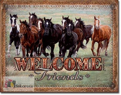 cedule Welcome Friends - Horses