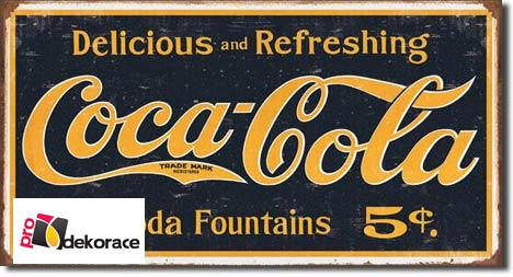 Cedule Coca Cola 1910 logo weathered