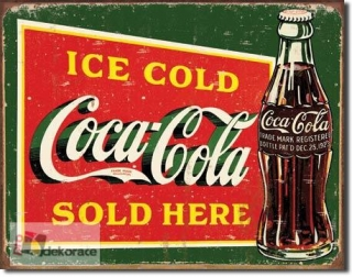 Cedule Coca Cola - Ice cold green