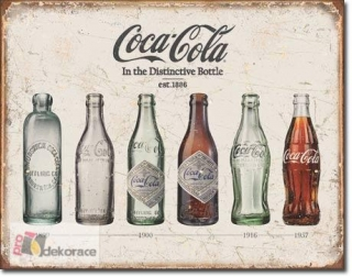 cedule Coca Cola - Bottle Evolution