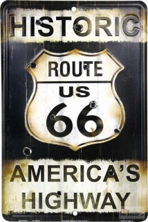 cedule Route-66 with Bullets